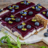 Blueberry Cocos Cheesecake vegan