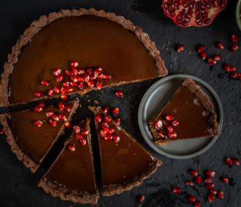 Schokoladen Tarte vegan
