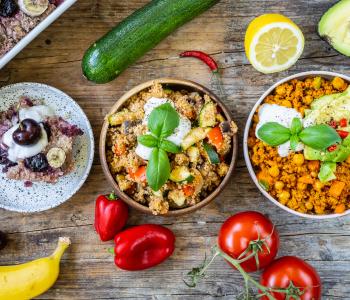 Ernährungsplan für 1 Tag - Gesundes Meal Prep vegan