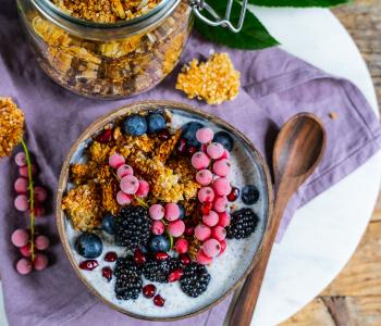 Quinoa Granola ohne Nüsse, ölfrei