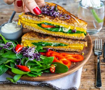 Rührei Sandwich vegan
