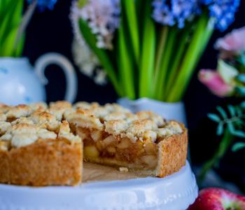Apfel-Streusel-Kuchen vegan - 6 Zutaten Rezept