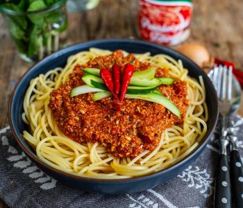 Pilz Bolognese Sauce - Veganes Rezept