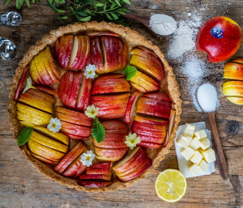 Apfel Tarte - Knusprig und gesund