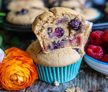 Beeren Muffins vegan - gesund und einfach