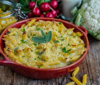 Blumenkohl Pasta Auflauf gesund & vegan