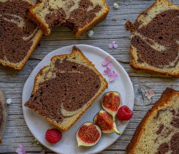 Marmorkuchen vegan - Klassiker ohne Ei und Milch