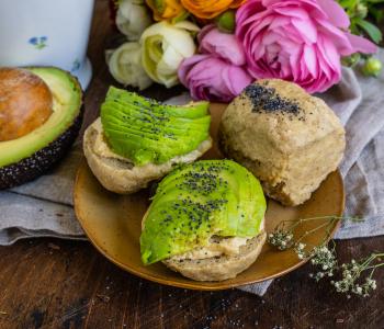 Protein Brötchen Rezept - vegan 5 Zutaten