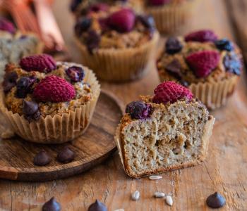 Bananenbrot Muffins gesund & proteinreich