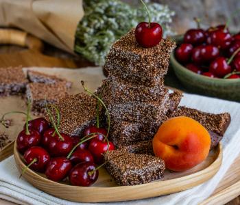 Schoko Happen mit Quinoa, zuckerfrei, vegan