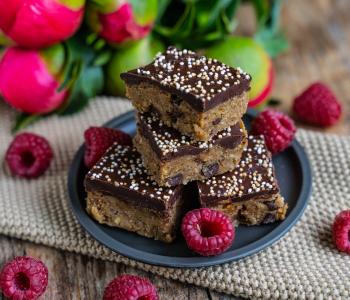 Cookie Dough Bars - Super lecker, gesund und proteinreich