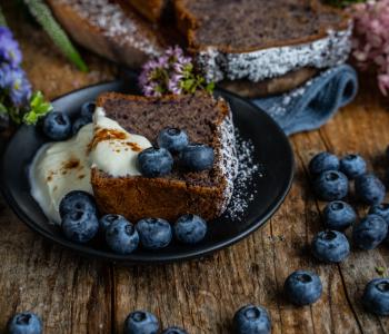 Heidelbeer-Bananenbrot -vegan & einfach