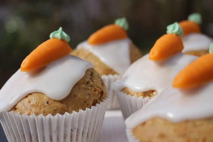 Saftige Karotten-Muffins vegan