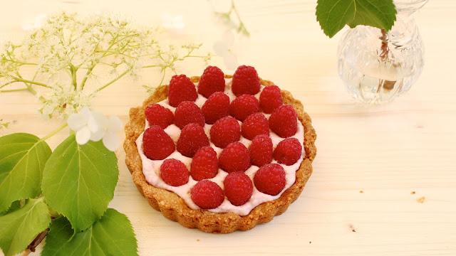 Himbeer-Tartelettes mit Mandelboden | zuckerfrei, glutenfrei
