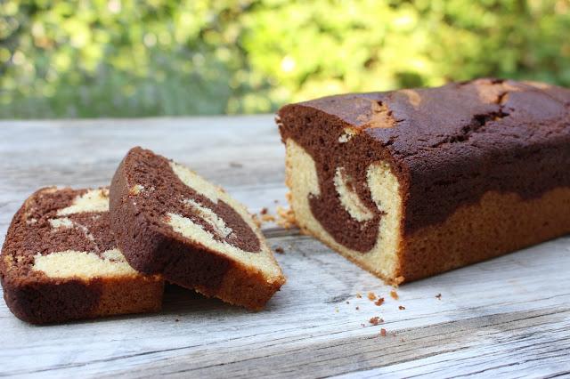 Mamorkuchen | Marble cake | einfacher Rührkuchen