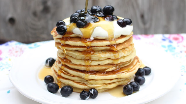 Fluffige Buttermilch-Pancakes