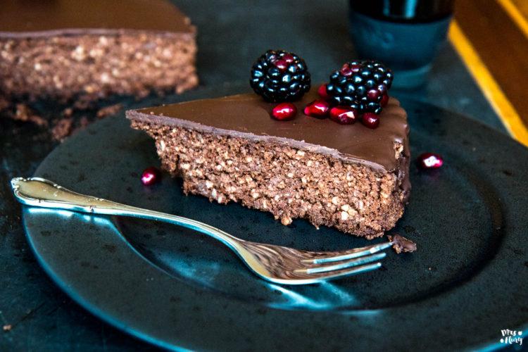 Klitschkuchen | Bester Schokoladenkuchen ohne Zucker, glutenfrei
