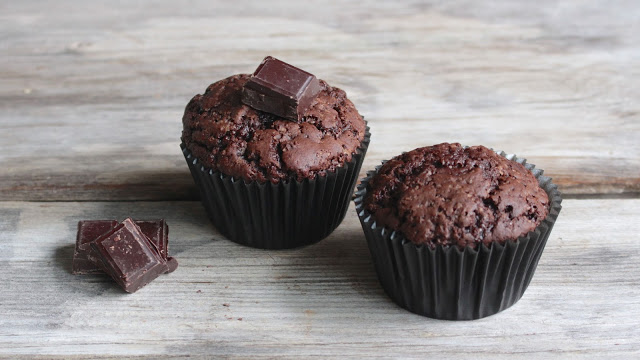 Vegane Schoko Muffins backen Mrs Flury