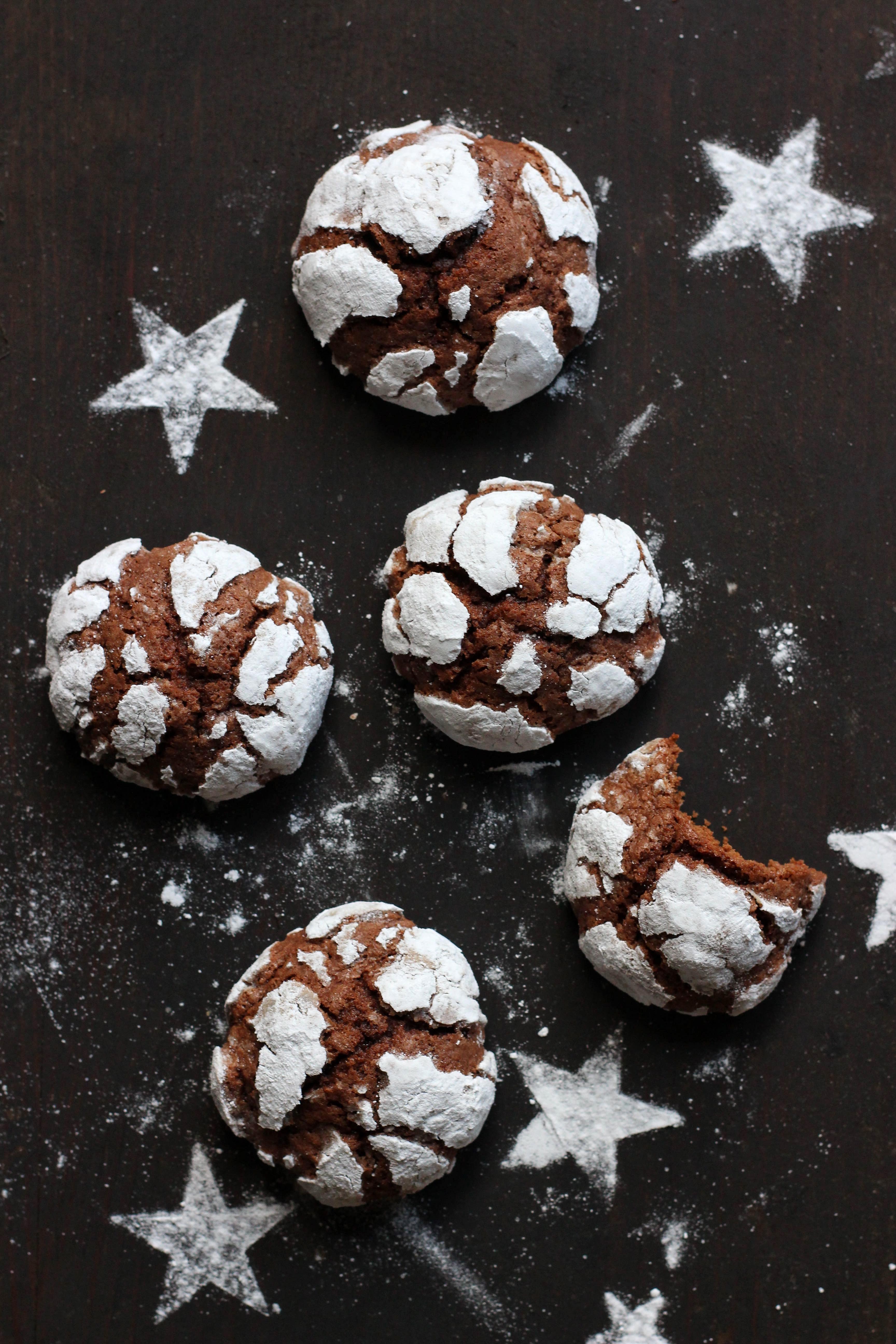 Snowcap Cookies - Einfache Schokoladenkekse ohne Ausstechen Mrs Flury