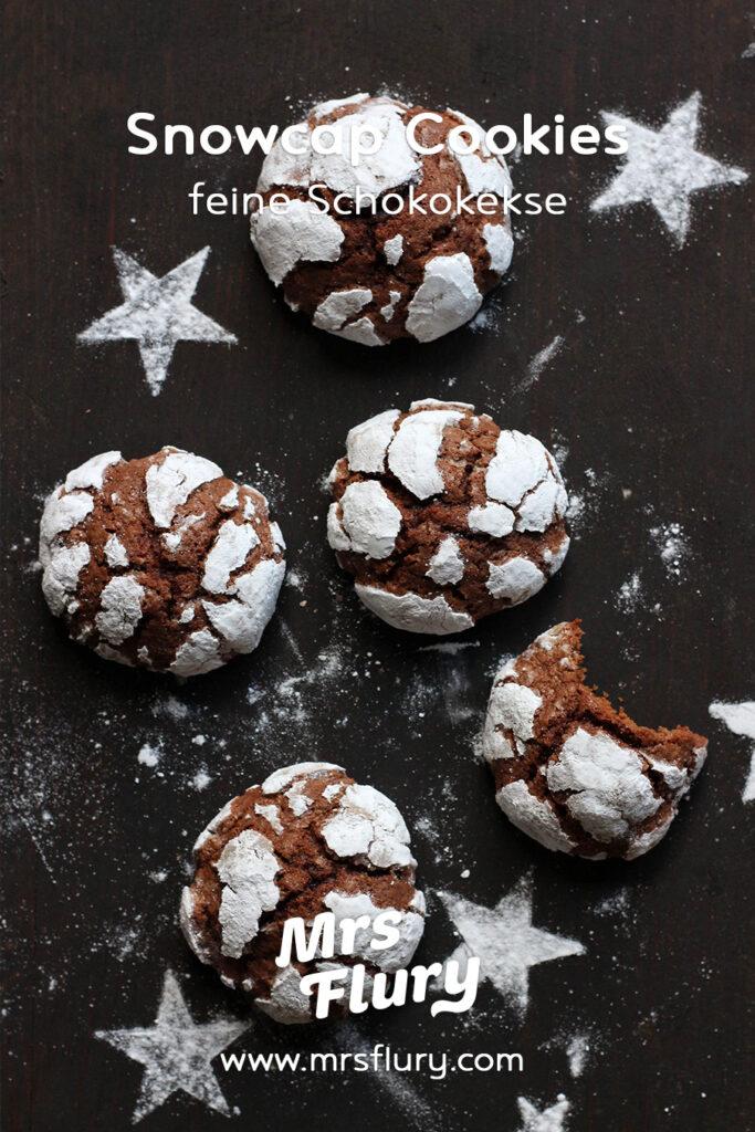 Snowcap Cookies Rezept - Amerikanische Schokokekse Mrs Flury