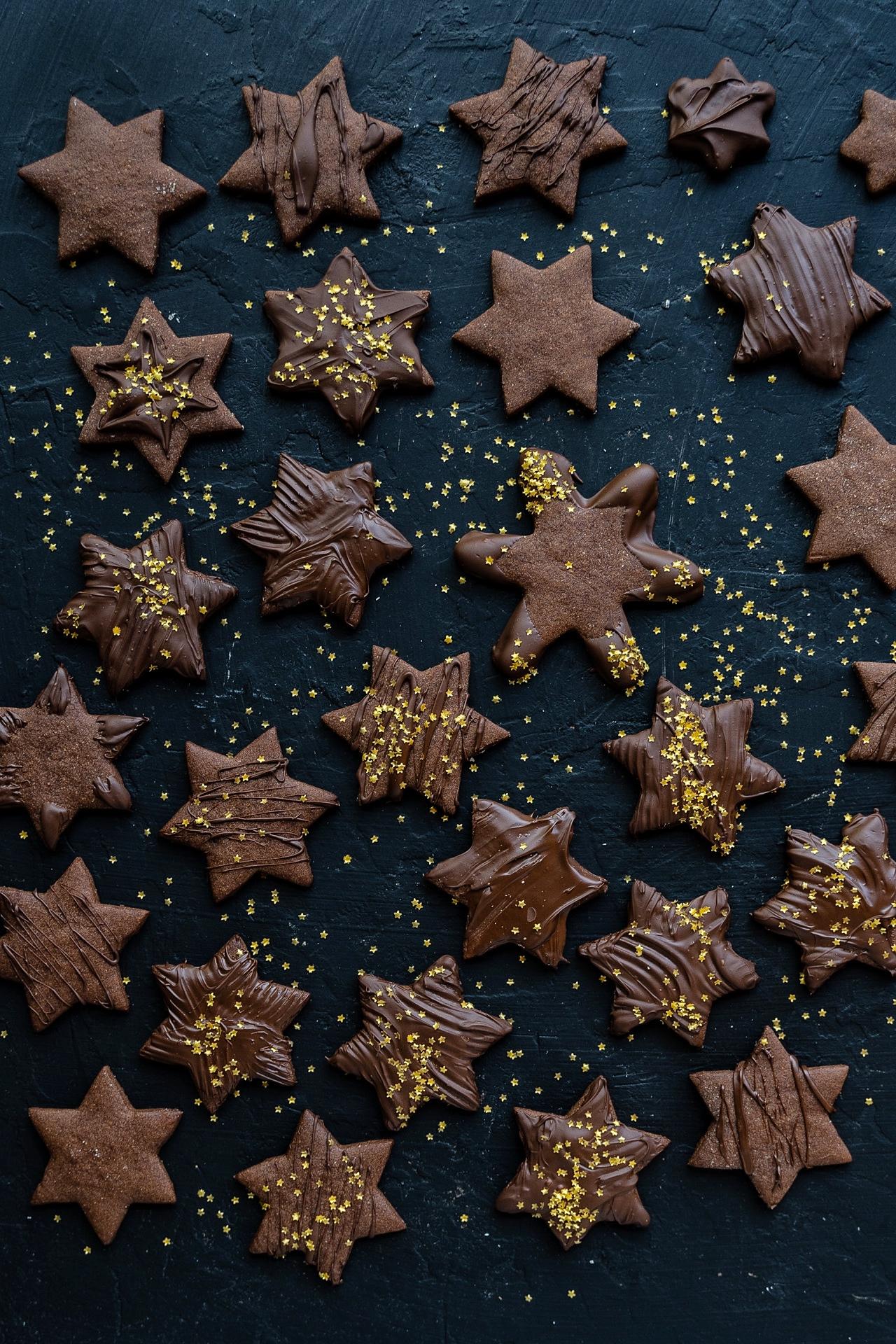 Schokoladen Sterne - Einfache Ausstechkekse Rezept Mrs Flury