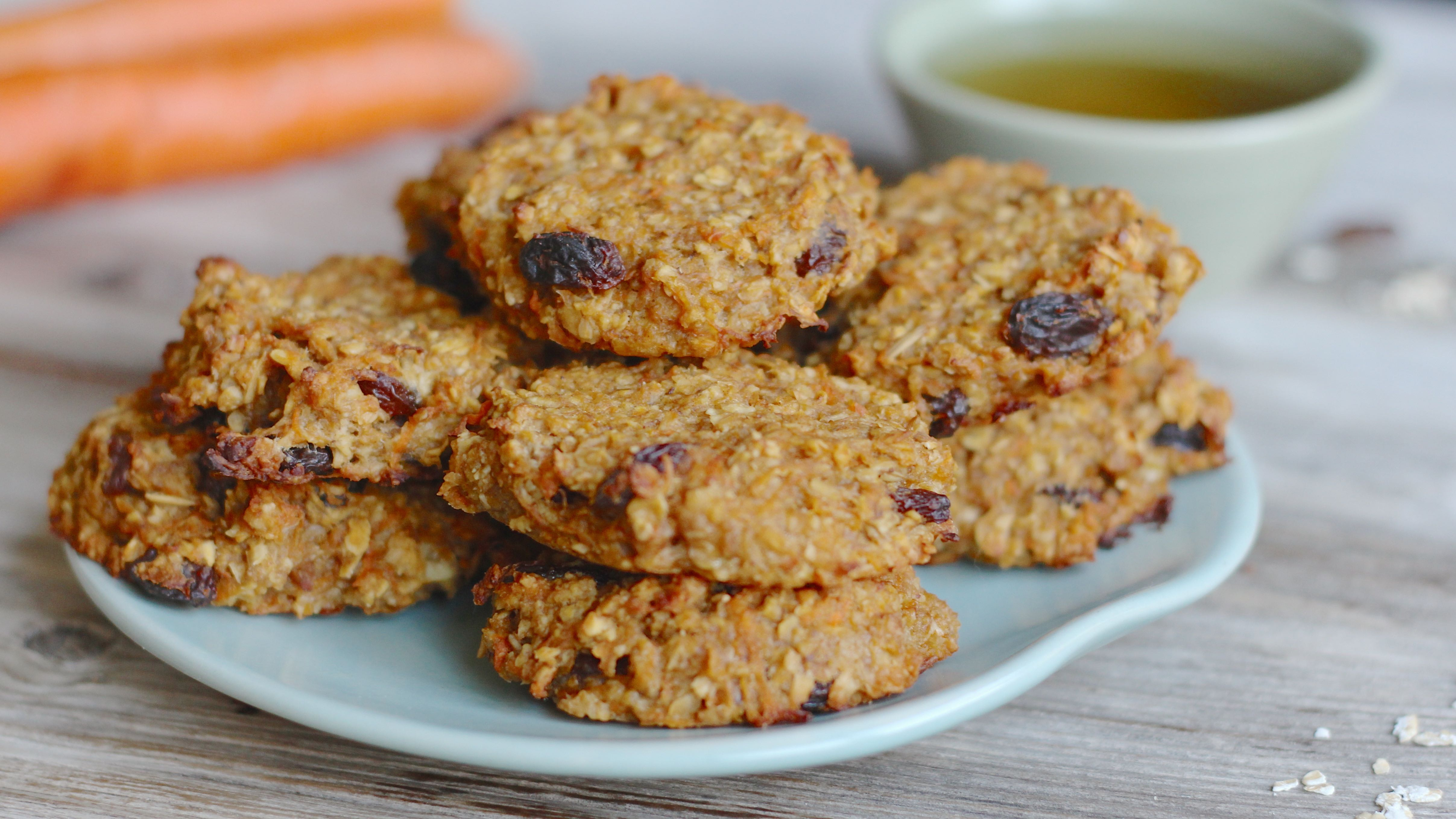 Karotten Apfel Cookies