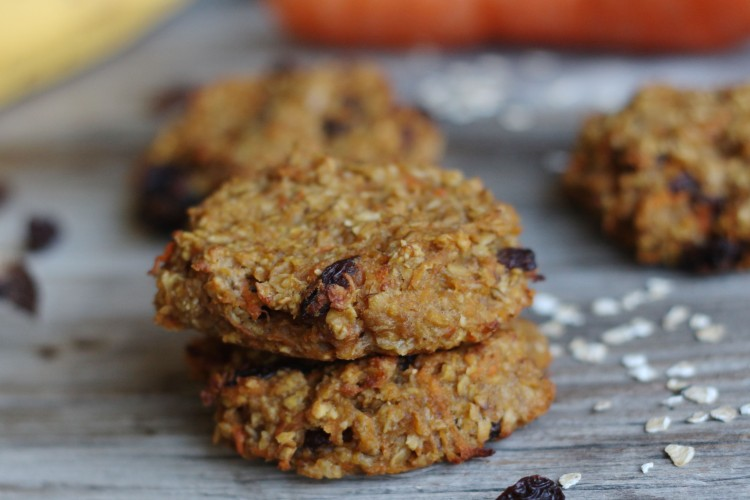 Karotten-Apfel Cookies | ohne Zucker, ohne Mehl, gesund und lecker