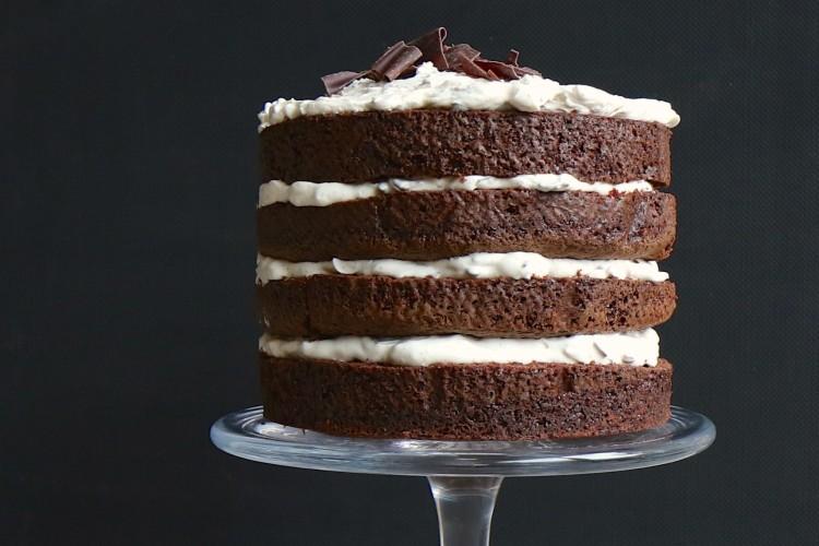Naked Cake | Köstliche Schokoladentorte