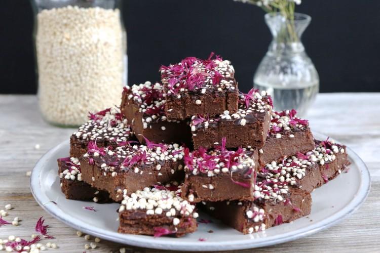 Gesunde Süsskartoffel Brownies vegan, glutenfrei, zuckerfrei Mrs Flury