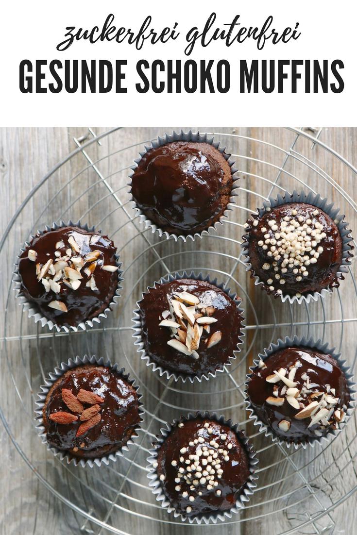 Gesunde Schoko Muffins zuckerfrei glutenfrei