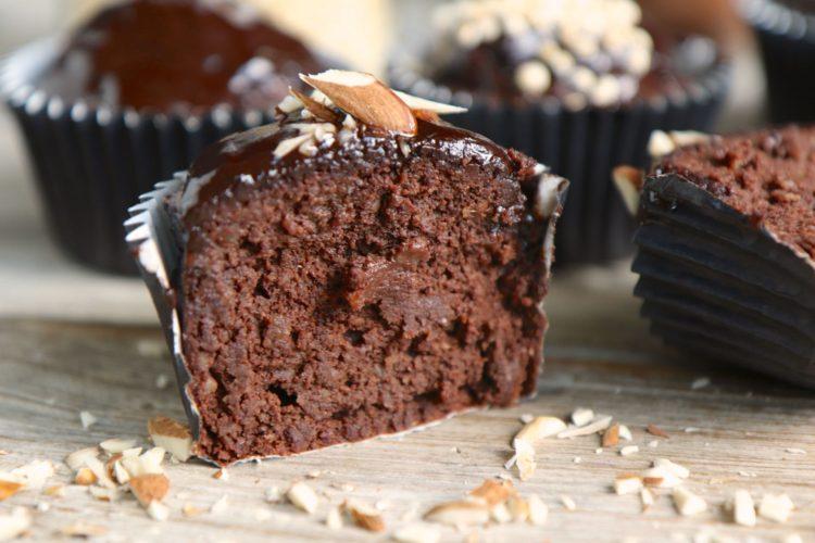 Schoko Muffins | gesund, ohne Zucker, ohne Mehl