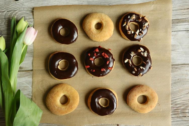 Gesündere Donuts gebacken, ohne frittieren