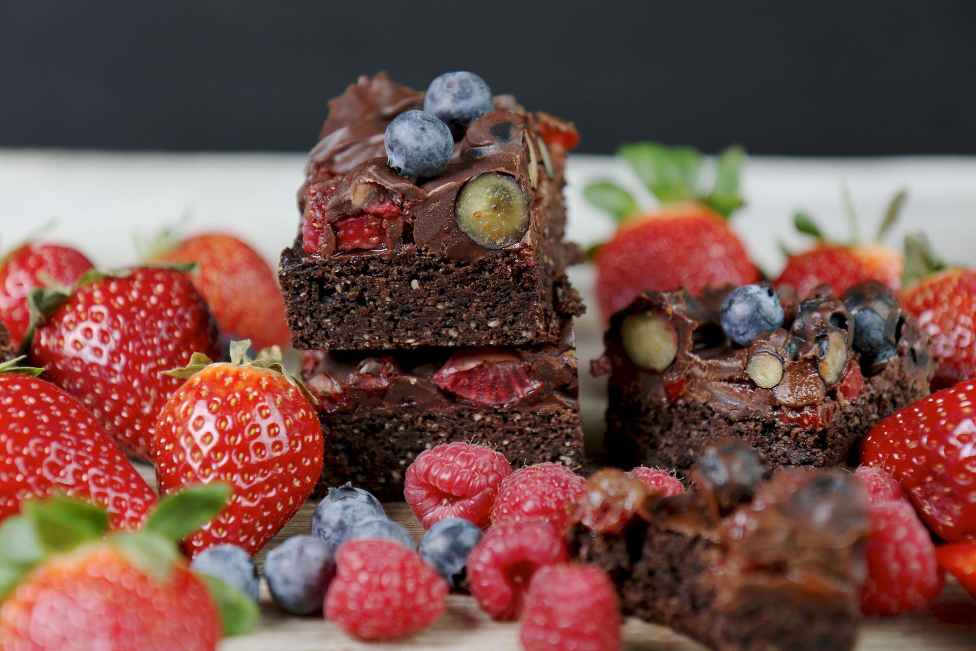 erdbeer brownies blog 3