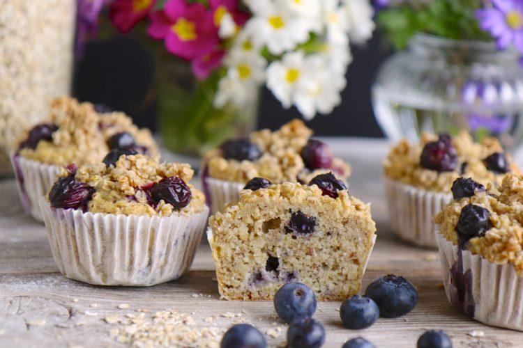 Gesunde Heidelbeer Muffins ohne Zucker