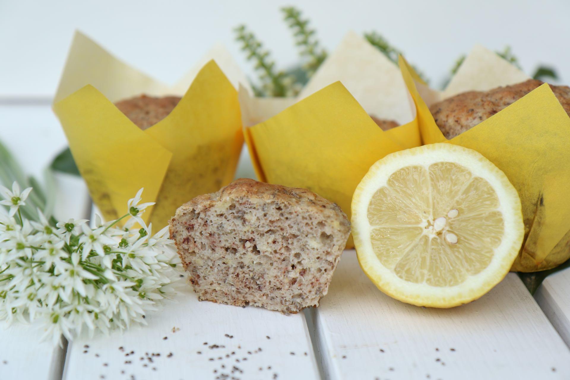 Vegane Zitronen Muffin