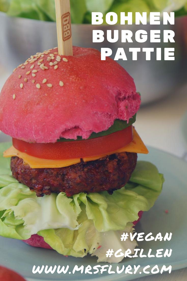 Black Bean Burger Pattie vegan Mrs Flury Grillen BBQ