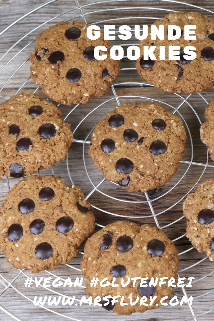 Gesunde Chocolate Chip Cookies vegan & glutenfrei Mrs Flury