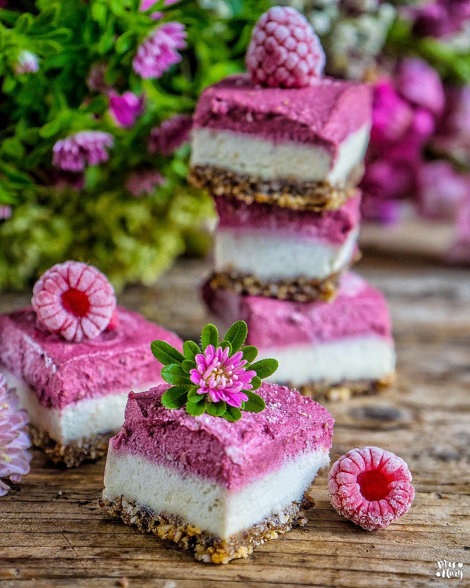 Veganer Himbeer Cheesecake zuckerfrei gesund