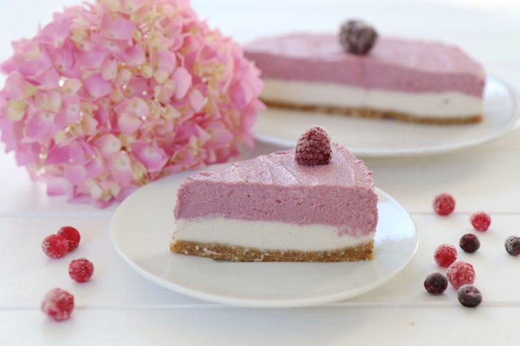 Raw Raspberry Cake | Veganer Himbeer Cheesecake
