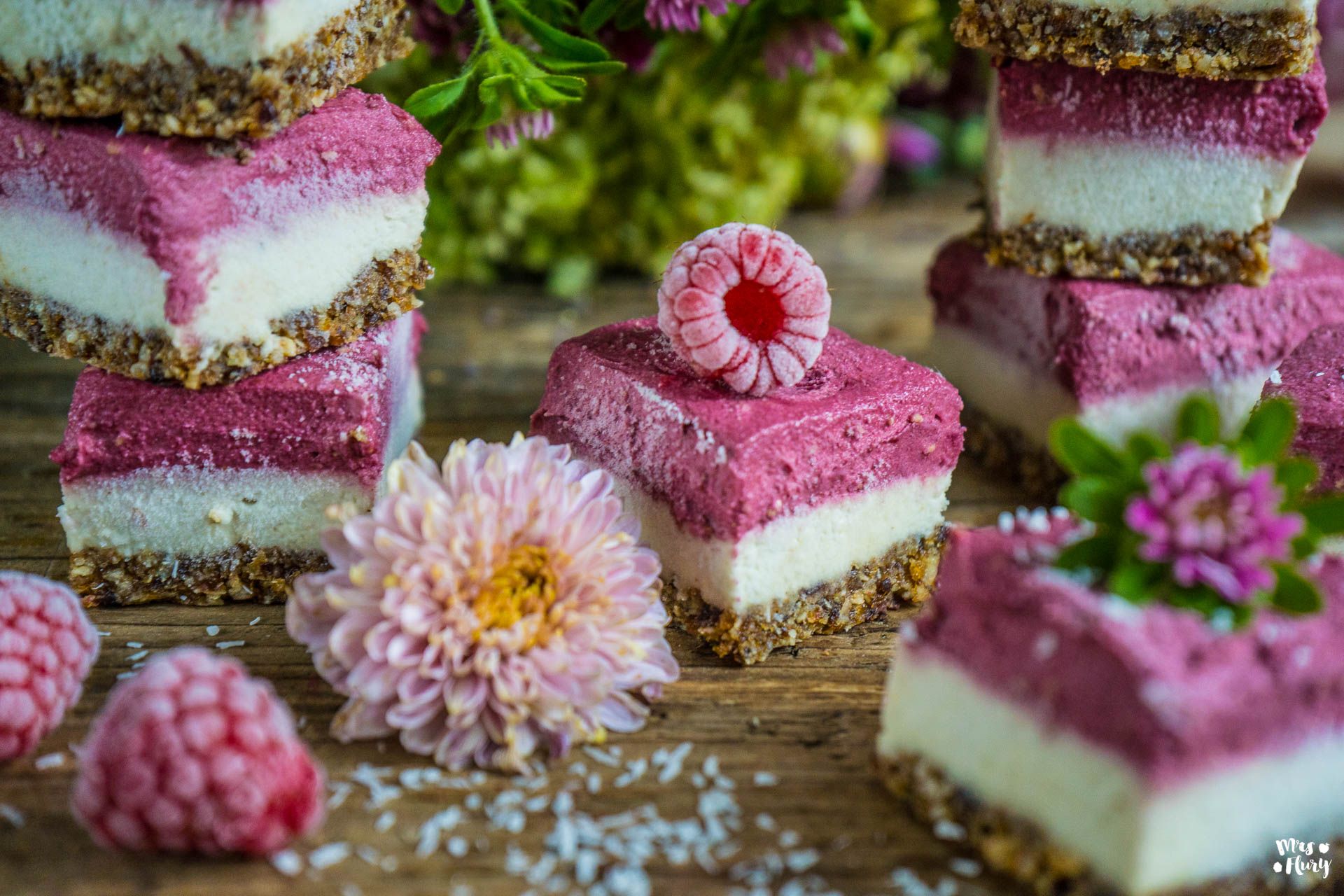Veganer Himbeer Cheesecake