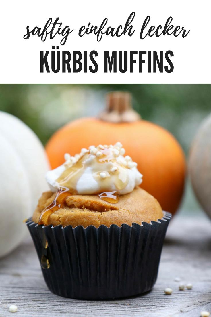 Köstliche Kürbis Muffins mit Kürbispürree