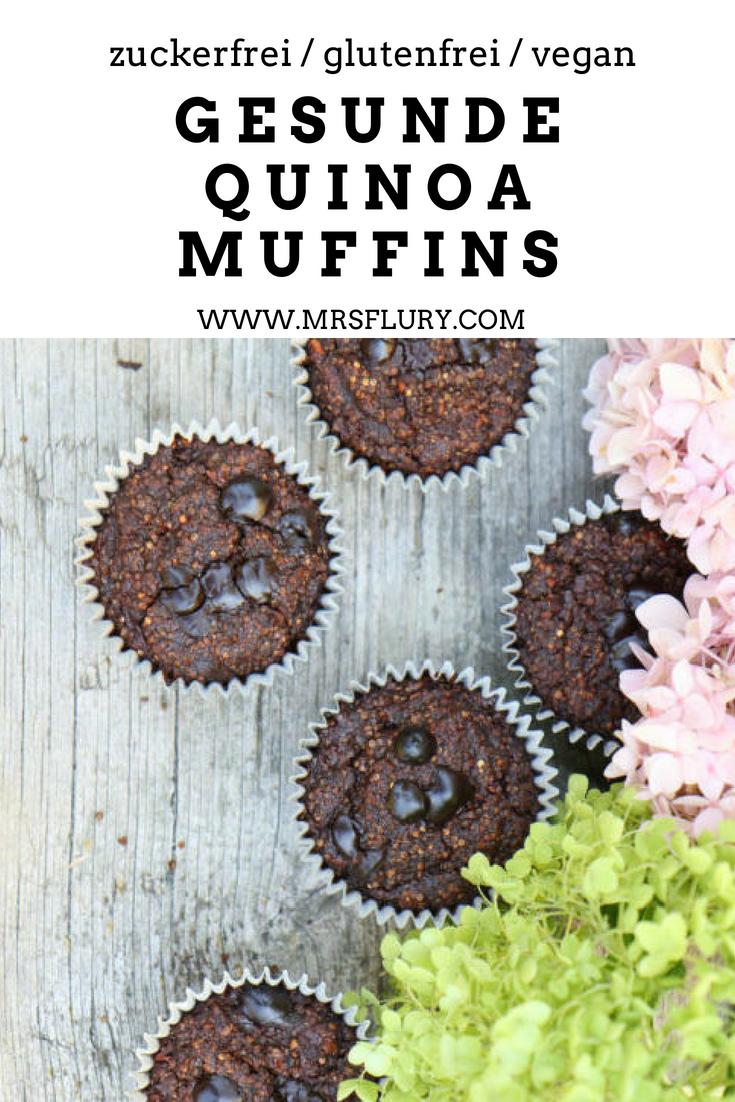 Gesunde Quinoa Muffins zuckerfrei, vegan, glutenfrei