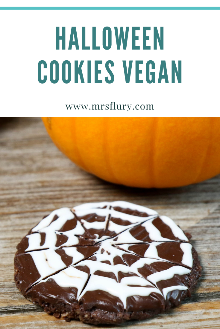 Gesunde Halloween Cookies vegan Mrs Flury