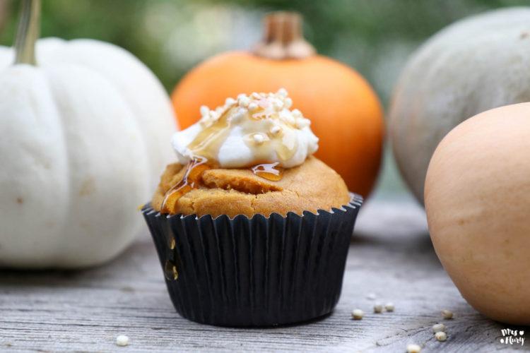 Kürbis-Muffins mit Kürbis-Püree | Super fluffig und lecker!