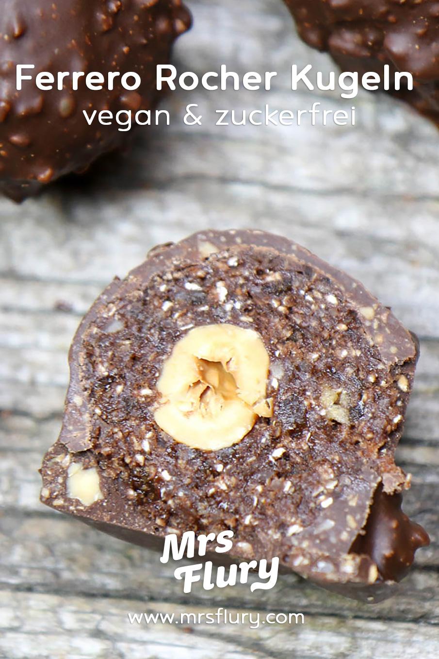Gesunde Ferrero Rocher Kugeln vegan, zuckerfrei Rezept Mrs Flury