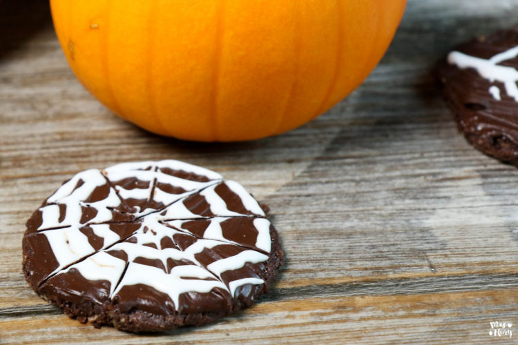 Halloween Cookies vegan – Spiderweb Cookies