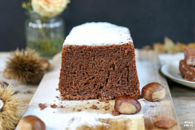 Saftiger Marroni Kuchen ohne Mehl | glutenfrei | Kastanienkuchen