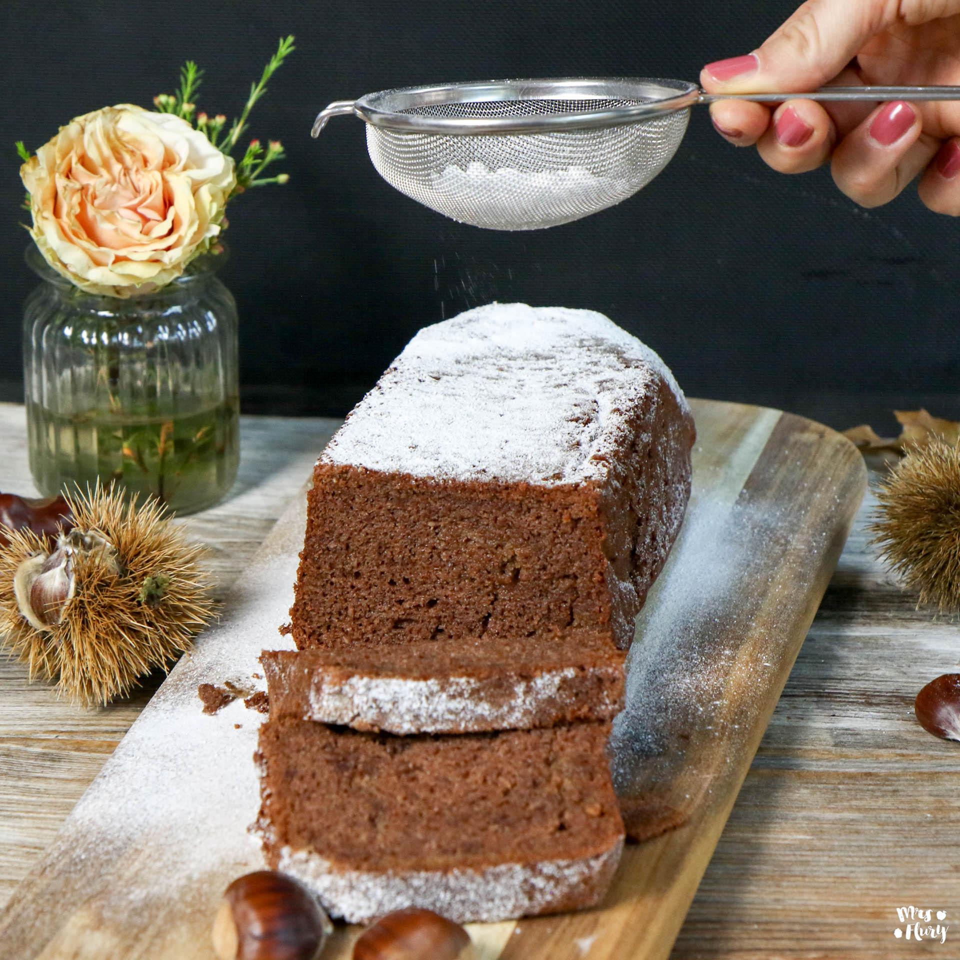 Saftiger Marroni Kuchen ohne Mehl glutenfrei Mrs Flury