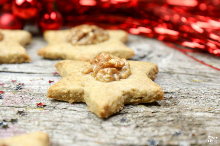 Nuss Sterne | Köstliche Nuss Kekse backen