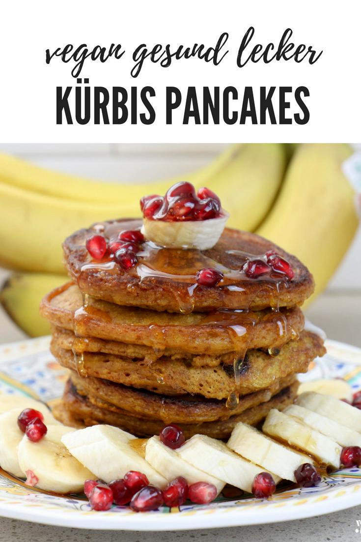 Gesunde Kürbis Pancakes vegan